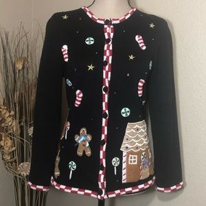 Black Christmas Cardigan